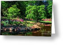 A Peaceful Feeling At The Azalea Pond Greeting Card