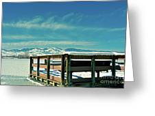 A Peaceful Pier Greeting Card