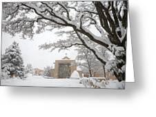 A Peaceful Winter Scene Greeting Card by Ralph Lee Hopkins
