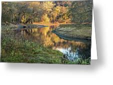 A Peak At Autumn Greeting Card
