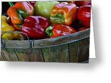 A Peck Of Peppers Greeting Card