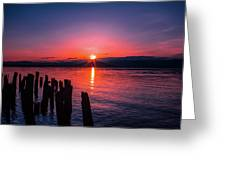 A Pend Oreillle Sunrise Greeting Card