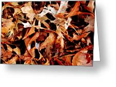 A Pile Of Leaves Greeting Card