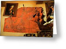 A Pirates Map Room Greeting Card