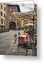 A Pisa Cafe Greeting Card