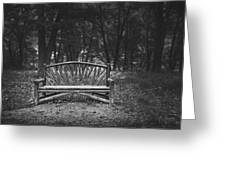 A Place To Sit 6 Greeting Card
