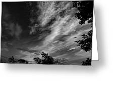 A Plane In The Clouds Greeting Card
