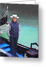 A Pleasant Wait Of A Gondolier Greeting Card