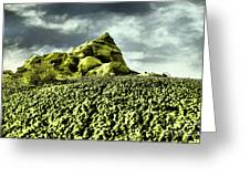 A Pointed Hilltop Greeting Card