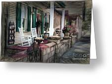 A Porch On The Bay Greeting Card