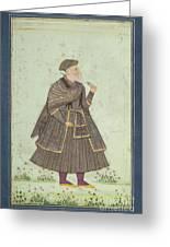 A Portrait Of A Deccani Nobleman Greeting Card