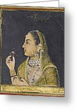 A Portrait Of Jahanara Begum Greeting Card