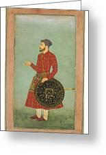 A Portrait Of Khan Zaman Greeting Card