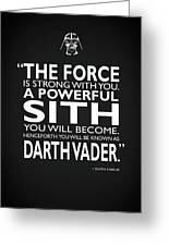 A Powerful Sith Greeting Card