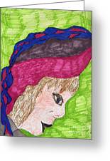 A Pretty Hat Greeting Card