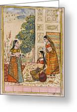 A Princess With Her Maidservants On A Terrace Greeting Card