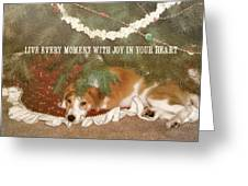 A Puppy For Christmas Quote Greeting Card
