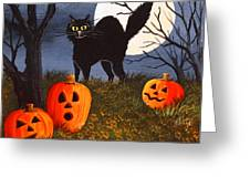 A Purrfect Halloween Greeting Card