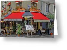 A Quaint Restaurant In Paris, France Greeting Card