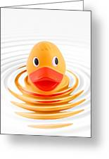 A Quick Dip Greeting Card by Martin Williams