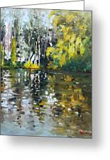A Quiet Afternoon Reflection Greeting Card