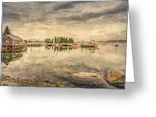 A Quiet Little Harbor Greeting Card