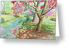 A Quiet Stroll In The Japanese Gardens Of Gibbs Gardens Greeting Card