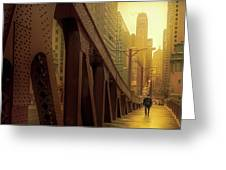 A Quiet Sunday Morning In Chicago Greeting Card