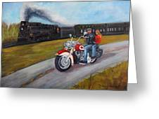 A Race In Time Greeting Card