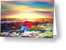 A Rainbow Paisley Sunrise V.2 Greeting Card
