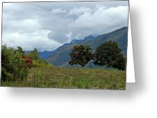A Rainy Day In The Mountains Of Ecuador Greeting Card