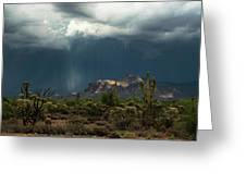 A Rainy Evening In The Superstitions  Greeting Card