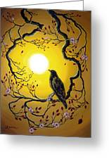 A Raven Remembers Spring Greeting Card