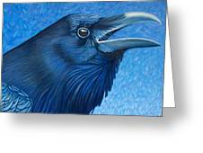 A Raven's Prayer Greeting Card