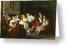 A Reading By Madame De Sevigne Greeting Card