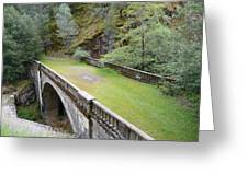 A Real Bridge To Nowhere Greeting Card