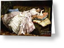 A Reclining Beauty Greeting Card