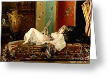 A Reclining Odalisque Greeting Card