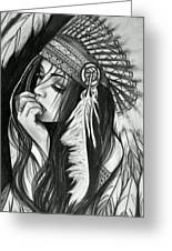 A Red Indian Girl Greeting Card