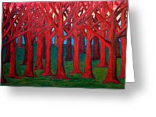 A Red Wood - Sold Greeting Card