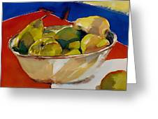 A Reflection On Pears Greeting Card