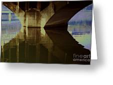 A Reflective Moment In Lyon Greeting Card