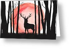 A Reindeer In The Woods Greeting Card