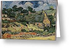 a replica of the landscape of Van Gogh Greeting Card
