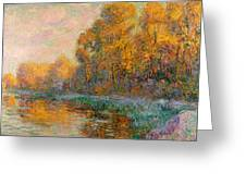 A River In Autumn Greeting Card
