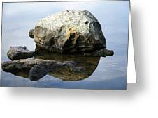A Rock In Still Water Greeting Card