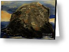 A Rock Greeting Card by Marie Bulger