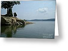 A Rocky Point - Monroe Lake Greeting Card