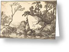 A Rocky Pond Greeting Card