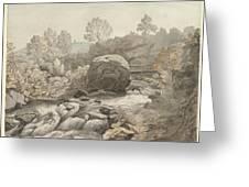 A Rocky Stream Greeting Card